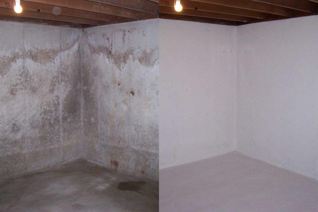 רטיבות קיר לפני ואחרי